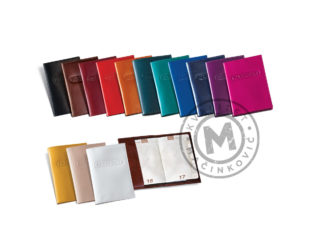 Leather cover for passport, 341