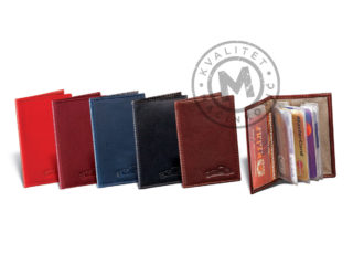 Leather etui for cards, 306