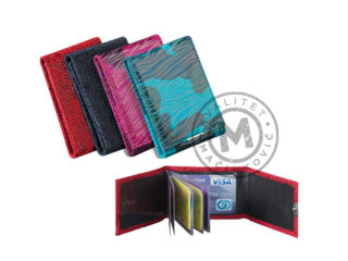 Leather etui for cards, 3071