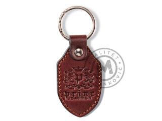 Leather keychain, 9101
