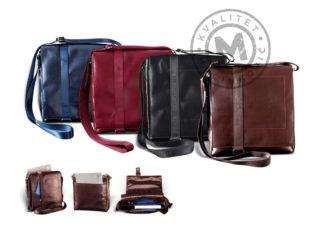 Leather shoulder bag, 431