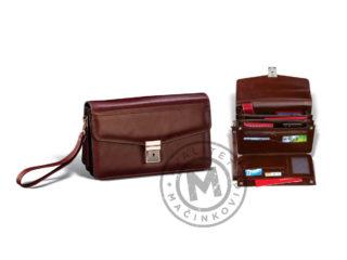 Men's leather handbag, 404