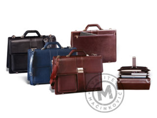 Men's leather business bag, 406