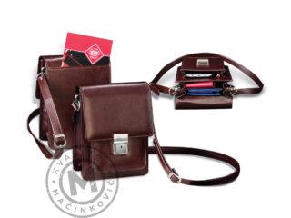 Men's leather shoulder bag, 434