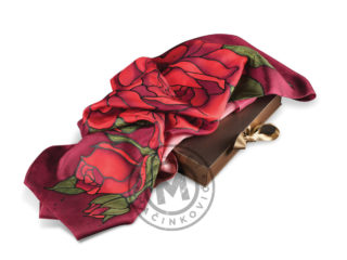 Silk scarf in a gift box, 874