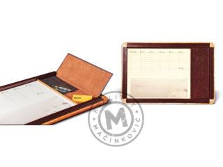 Desk pad wood-leather, 600