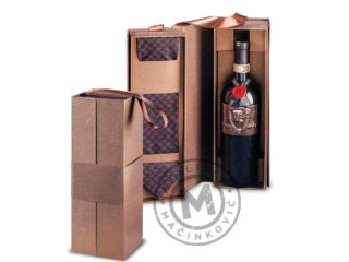Gift box for bottle with necktie, 877