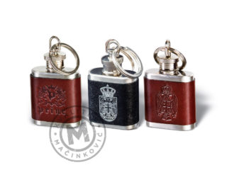 Key ring in hip flask shaped, 922