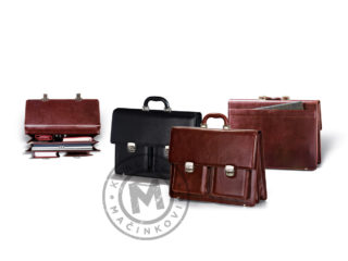 Leather business bag, 411