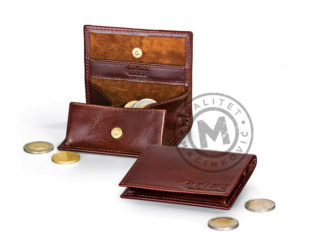 Leather coin purse, 387