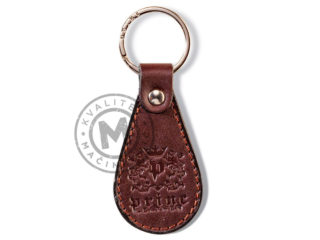 Leather key chain, 907