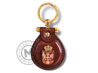 Leather key ring with coat of arms of Serbia, 920