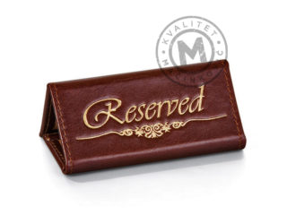 Leather reserved signs for tables, 983