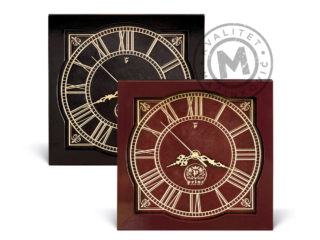 Leather wall clock, 577