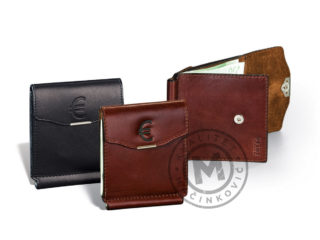 Leather wallet for paper money, 383