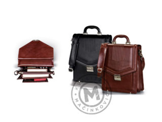 Men's leather business bag, 415