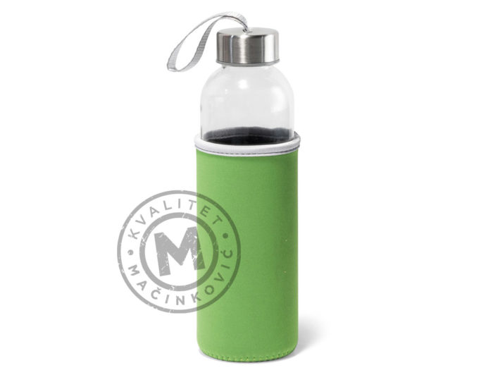 plastic-sport-bottle-with-soft-shell-pouch-raise-light-green