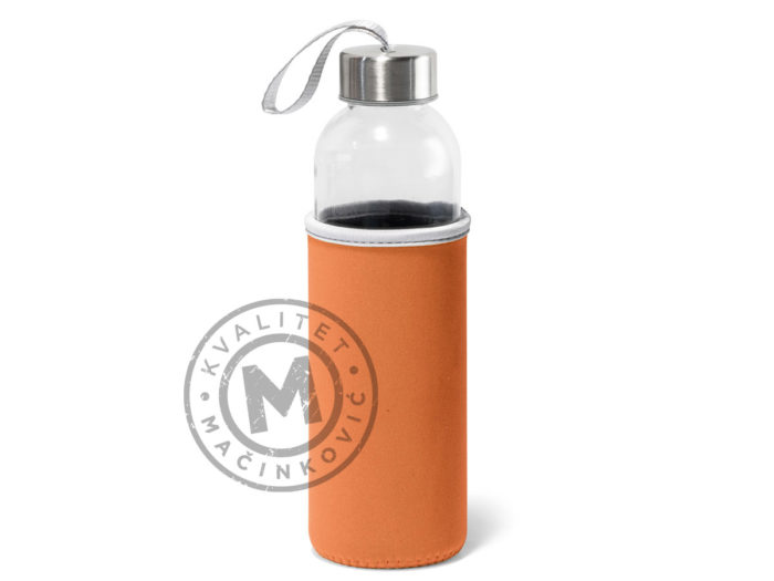 plastic-sport-bottle-with-soft-shell-pouch-raise-orange