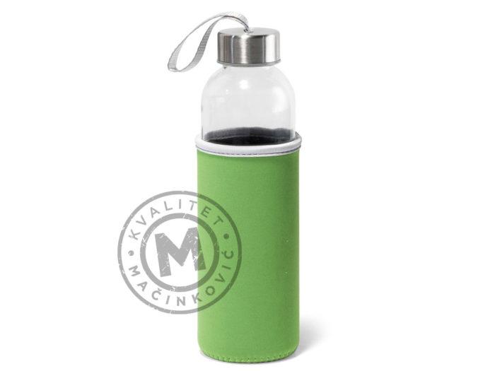 plasticna-sportska-boca-sa-soft-shell-navlakom-raise-svetlo-zelena
