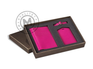 Set case for passport and identifier for travel bag, 887