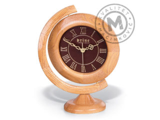 Table clock in the shape of a globe, 524