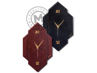 Wall clock MDF leather, 1401