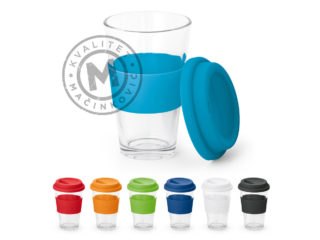 Glass travel cup, Barty