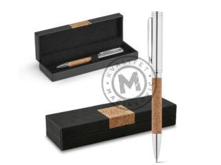 Hemijska olovka metal-pluta u poklon kutiji, Cork