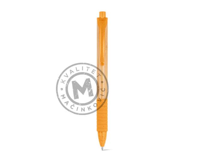 hemijska-olovka-od-bambusa-kuma-narandzasta