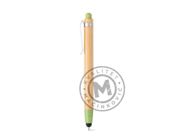 hemijska-olovka-od-bambusa-sa-touch-vrhom-benjamin-svetlo-zelena