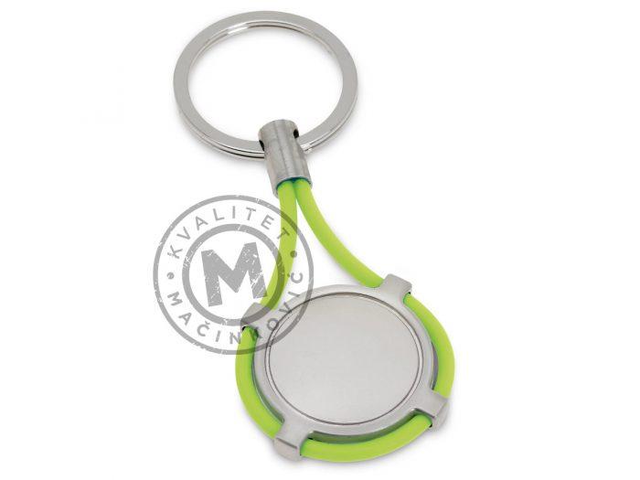 okrugli-metalni-privezak-indurain-svetlo-zelena