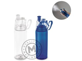 Plastic sports bottle with vaporizer, Clouds