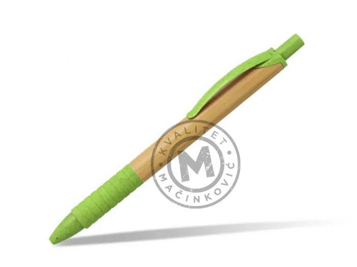drvena-hemijska-olovka-grass-svetlo-zelena