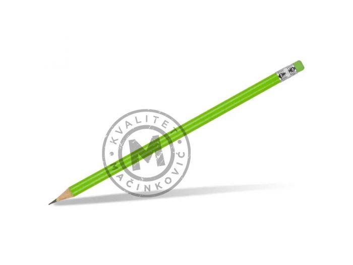 drvena-olovka-hb-sa-gumicom-pigment-svetlo-zelena