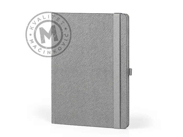 notebook-B5-with-pen-holder-alicante-b5-silver