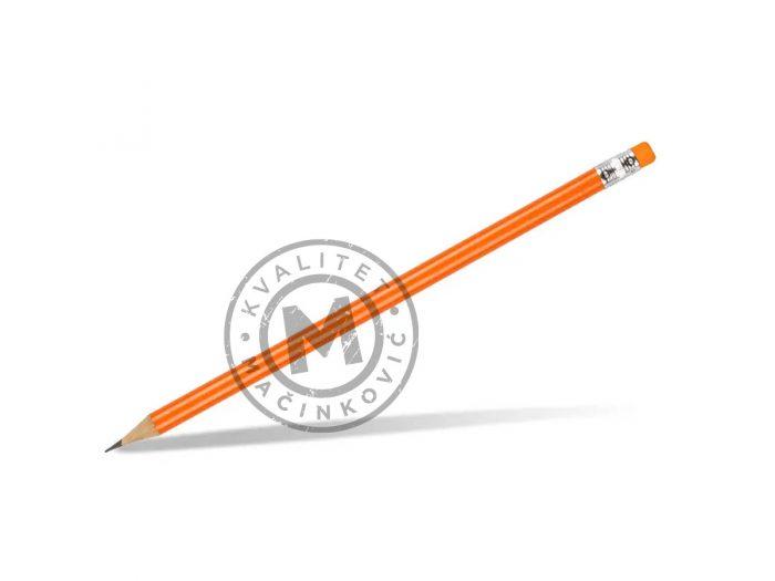 wooden-pencil-hb-with-eraser-pigment-orange