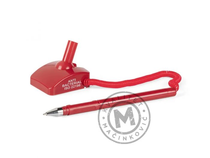 antibakterijska-hemijska-olovka-sa-postoljem-desk-ab-crvena