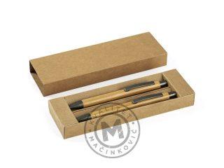 Bamboo mechanical pencil and ball pen set, Bamboo