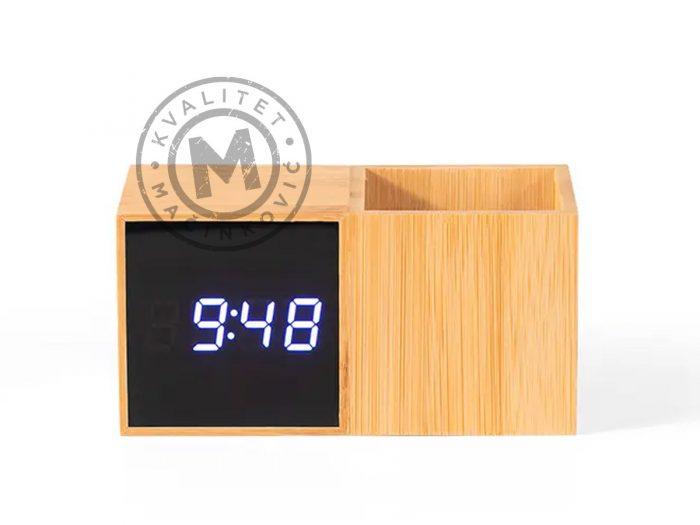 digital-desktop-lcd-clock-grid-beige