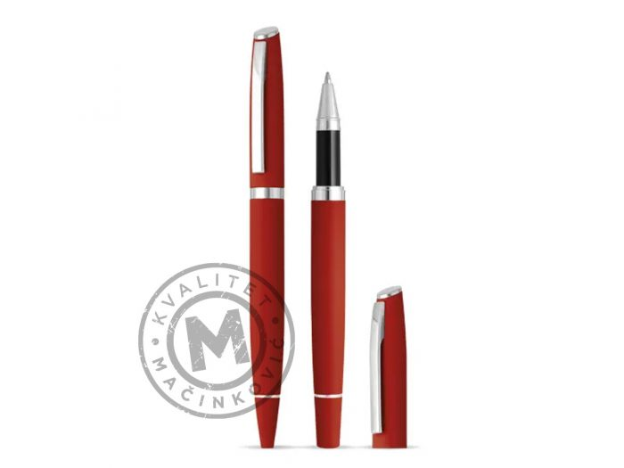 metal-ball-pen-and-roller-pen-set-astra-plus-red