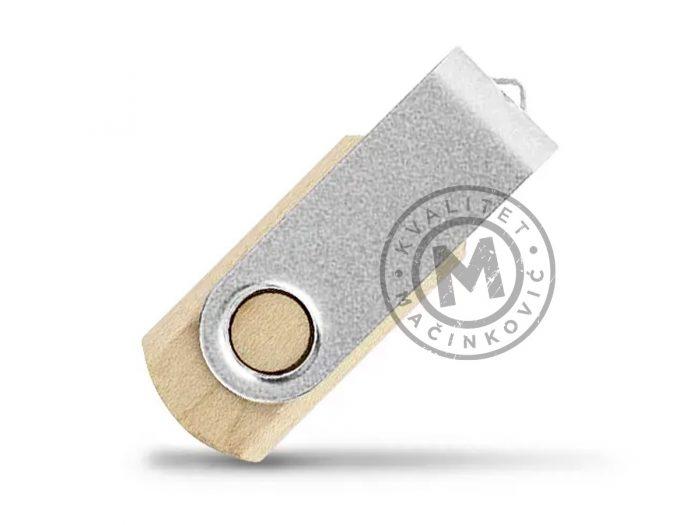usb-flash-memorija-smart-wood-mat-srebrna