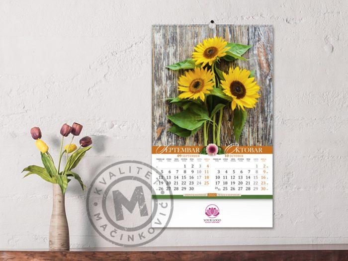 wall-calendars-flowers-sep-oct